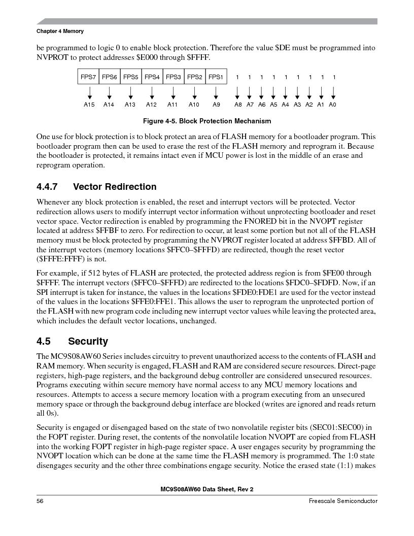 MC9S08AW16MFDE ,Freescale Semiconductor厂商,IC MCU 8BIT 16K FLASH 48-QFN, MC9S08AW16MFDE datasheet预览  第56页