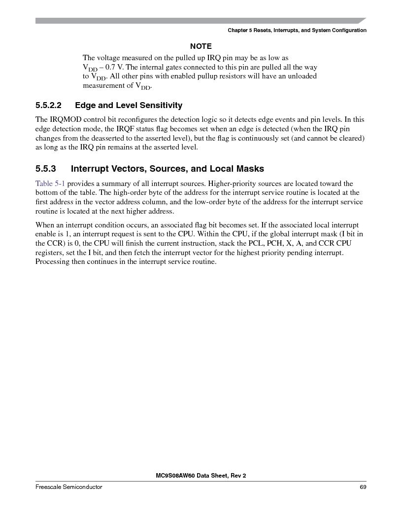 MC9S08AW16MFDE ,Freescale Semiconductor厂商,IC MCU 8BIT 16K FLASH 48-QFN, MC9S08AW16MFDE datasheet预览  第69页