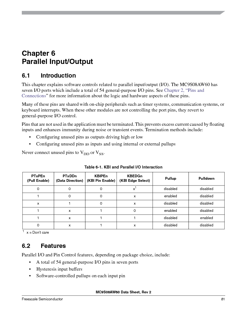 MC9S08AW16MFDE ,Freescale Semiconductor厂商,IC MCU 8BIT 16K FLASH 48-QFN, MC9S08AW16MFDE datasheet预览  第81页