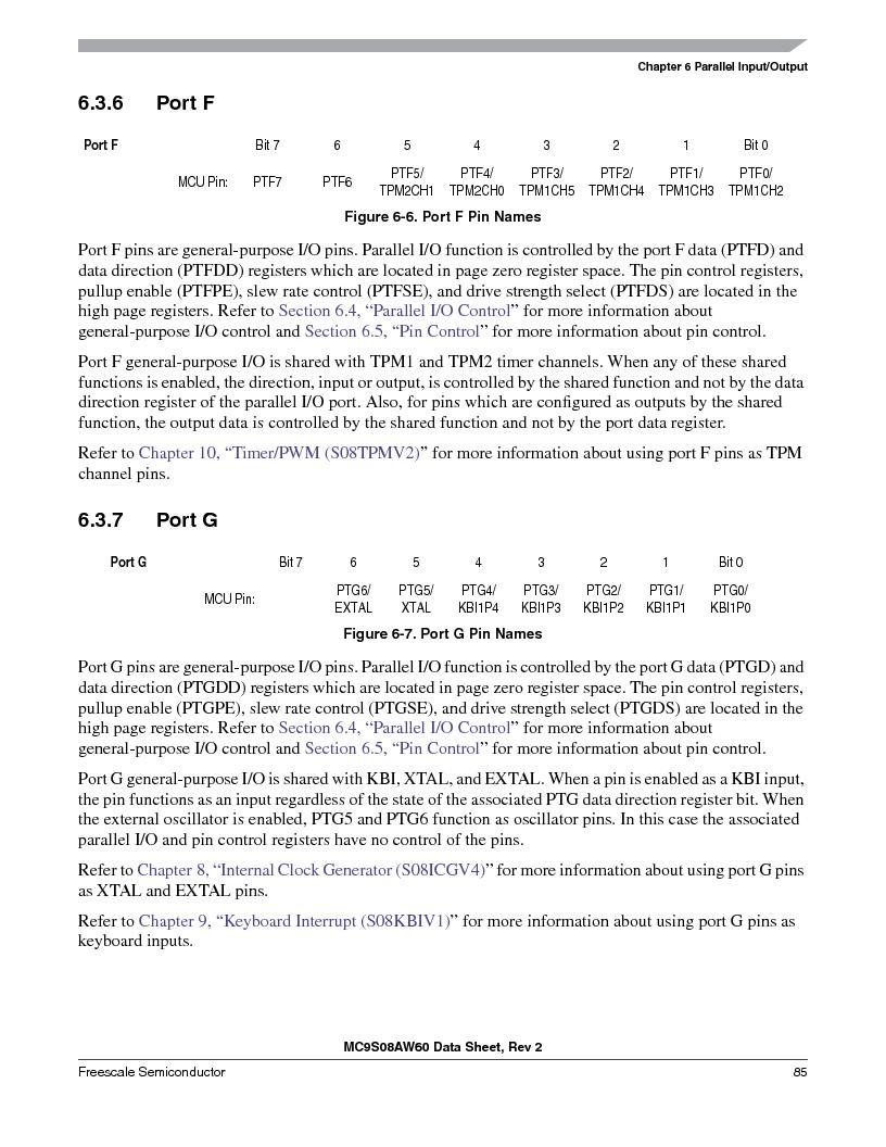 MC9S08AW16MFDE ,Freescale Semiconductor厂商,IC MCU 8BIT 16K FLASH 48-QFN, MC9S08AW16MFDE datasheet预览  第85页