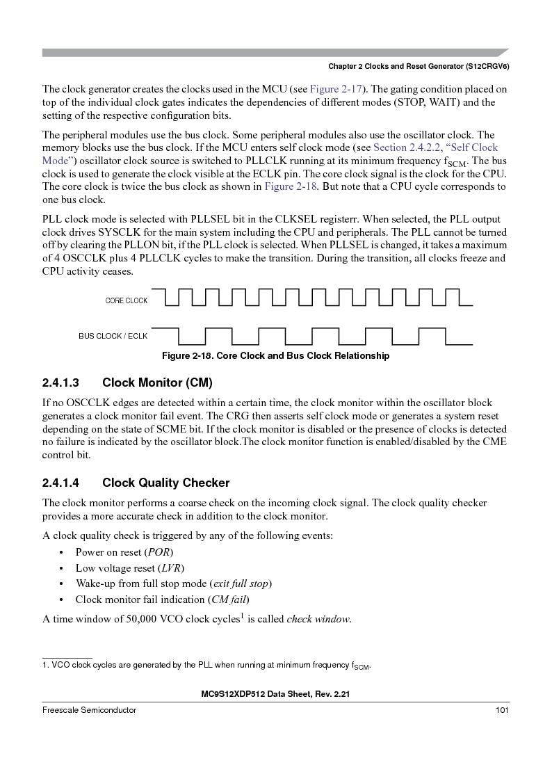 MC9S12XD256MAL ,Freescale Semiconductor厂商,IC MCU 256K FLASH 112-LQFP, MC9S12XD256MAL datasheet预览  第101页