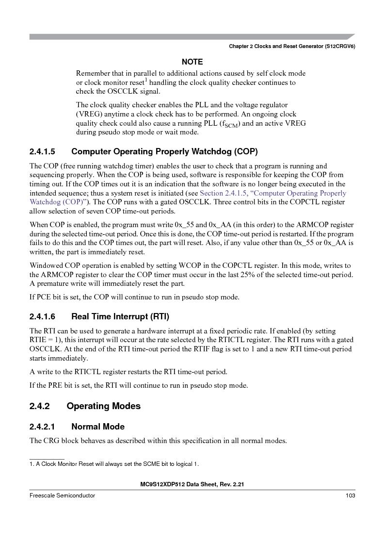 MC9S12XD256MAL ,Freescale Semiconductor厂商,IC MCU 256K FLASH 112-LQFP, MC9S12XD256MAL datasheet预览  第103页