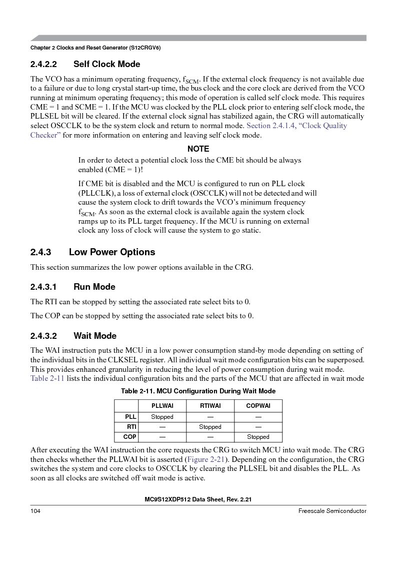 MC9S12XD256MAL ,Freescale Semiconductor厂商,IC MCU 256K FLASH 112-LQFP, MC9S12XD256MAL datasheet预览  第104页