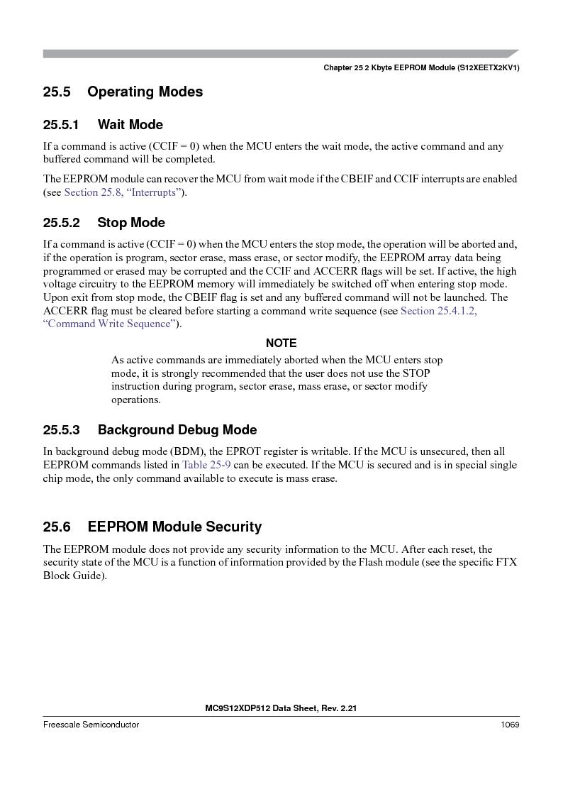 MC9S12XD256MAL ,Freescale Semiconductor厂商,IC MCU 256K FLASH 112-LQFP, MC9S12XD256MAL datasheet预览  第1067页