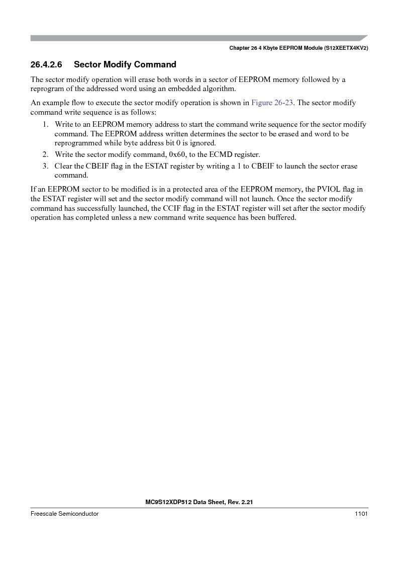MC9S12XD256MAL ,Freescale Semiconductor厂商,IC MCU 256K FLASH 112-LQFP, MC9S12XD256MAL datasheet预览  第1099页