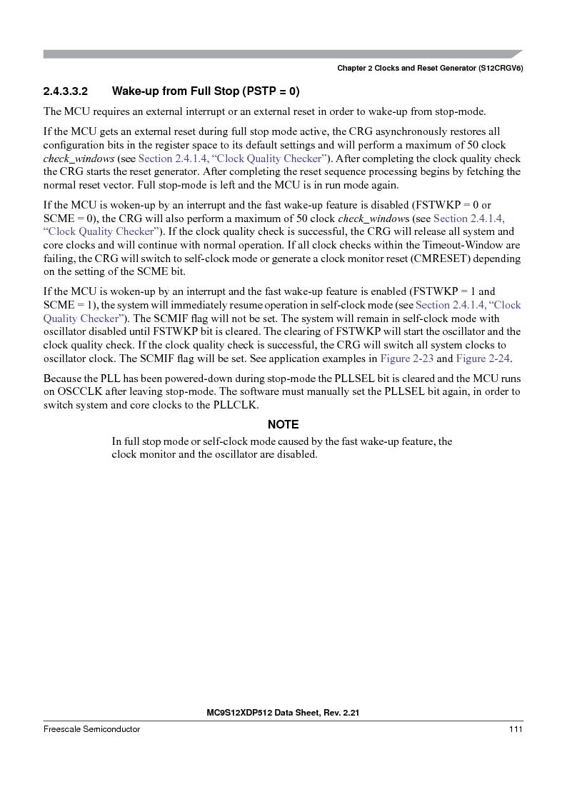 MC9S12XD256MAL ,Freescale Semiconductor厂商,IC MCU 256K FLASH 112-LQFP, MC9S12XD256MAL datasheet预览  第111页