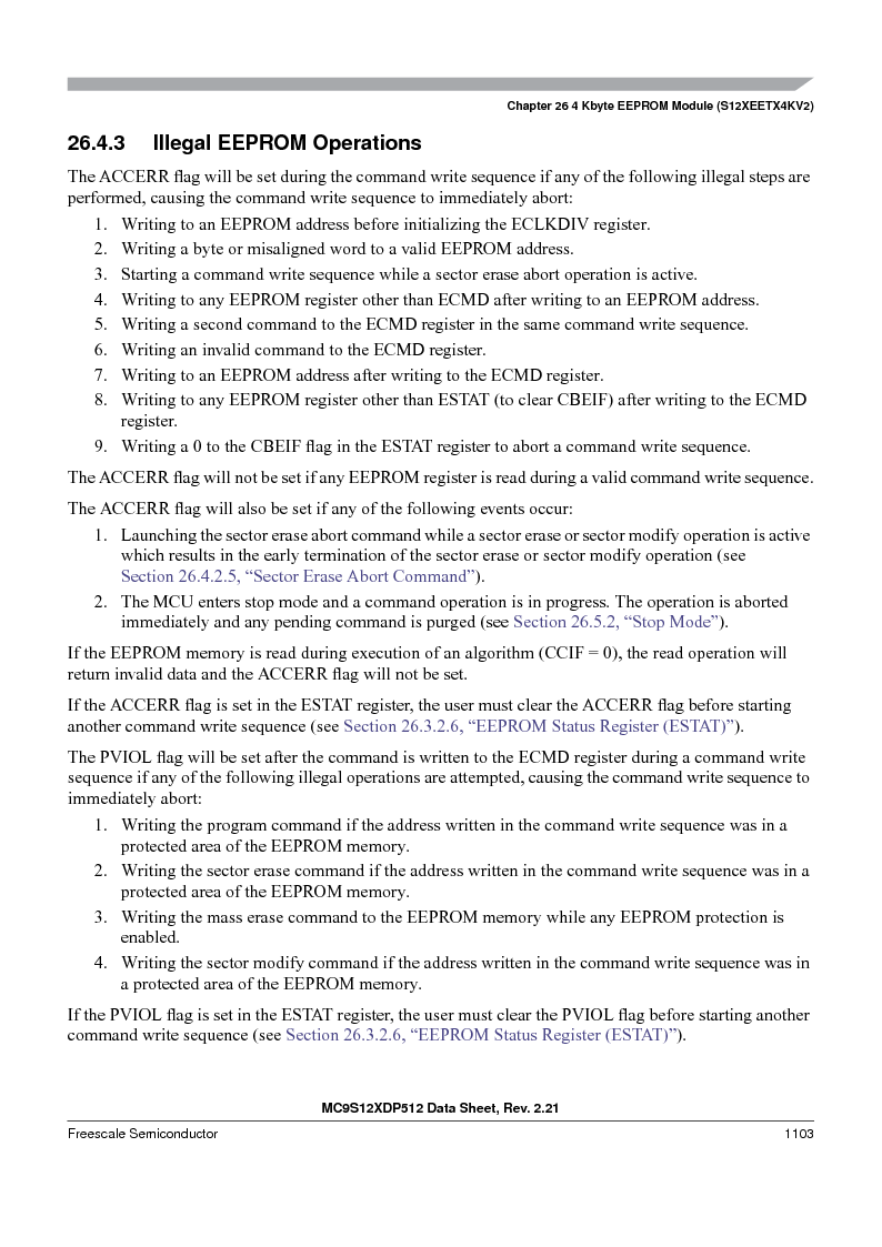 MC9S12XD256MAL ,Freescale Semiconductor厂商,IC MCU 256K FLASH 112-LQFP, MC9S12XD256MAL datasheet预览  第1101页