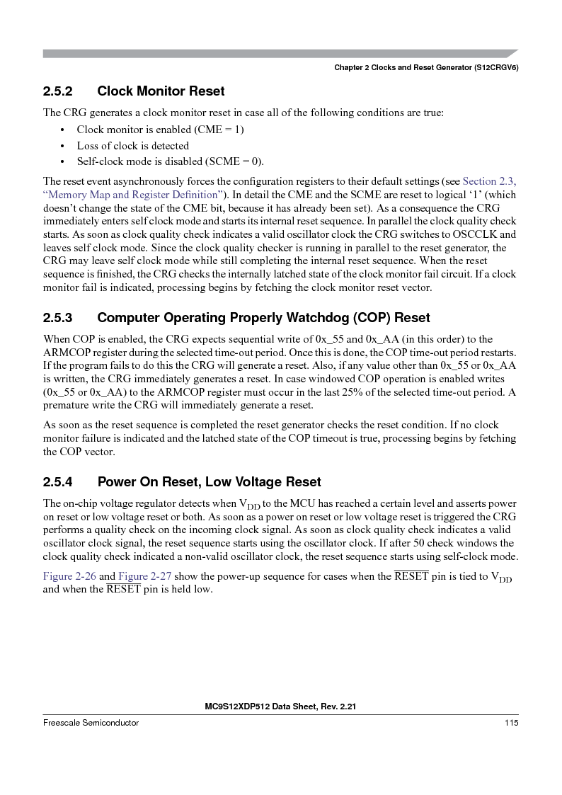 MC9S12XD256MAL ,Freescale Semiconductor厂商,IC MCU 256K FLASH 112-LQFP, MC9S12XD256MAL datasheet预览  第115页