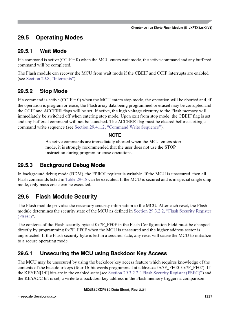 MC9S12XD256MAL ,Freescale Semiconductor厂商,IC MCU 256K FLASH 112-LQFP, MC9S12XD256MAL datasheet预览  第1225页