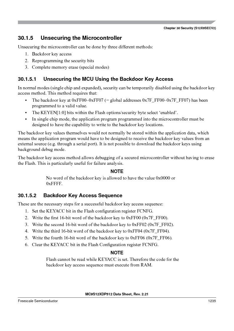 MC9S12XD256MAL ,Freescale Semiconductor厂商,IC MCU 256K FLASH 112-LQFP, MC9S12XD256MAL datasheet预览  第1233页