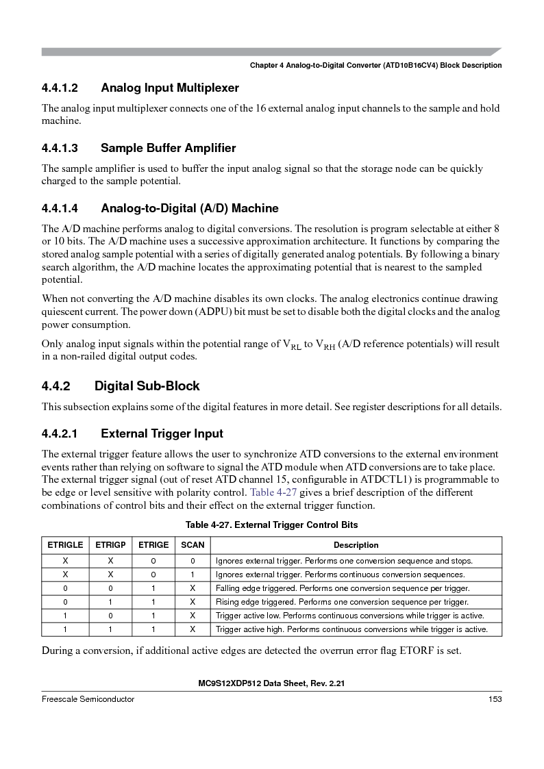 MC9S12XD256MAL ,Freescale Semiconductor厂商,IC MCU 256K FLASH 112-LQFP, MC9S12XD256MAL datasheet预览  第153页
