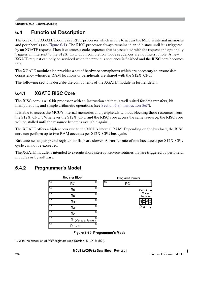 MC9S12XD256MAL ,Freescale Semiconductor厂商,IC MCU 256K FLASH 112-LQFP, MC9S12XD256MAL datasheet预览  第202页