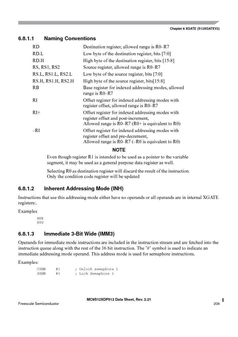 MC9S12XD256MAL ,Freescale Semiconductor厂商,IC MCU 256K FLASH 112-LQFP, MC9S12XD256MAL datasheet预览  第209页