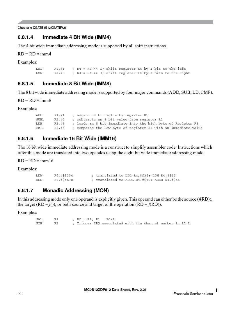 MC9S12XD256MAL ,Freescale Semiconductor厂商,IC MCU 256K FLASH 112-LQFP, MC9S12XD256MAL datasheet预览  第210页