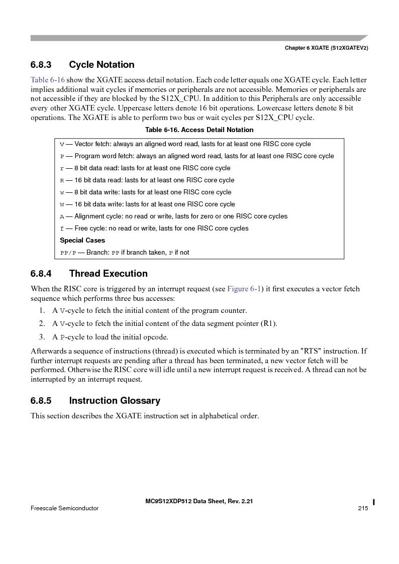 MC9S12XD256MAL ,Freescale Semiconductor厂商,IC MCU 256K FLASH 112-LQFP, MC9S12XD256MAL datasheet预览  第215页