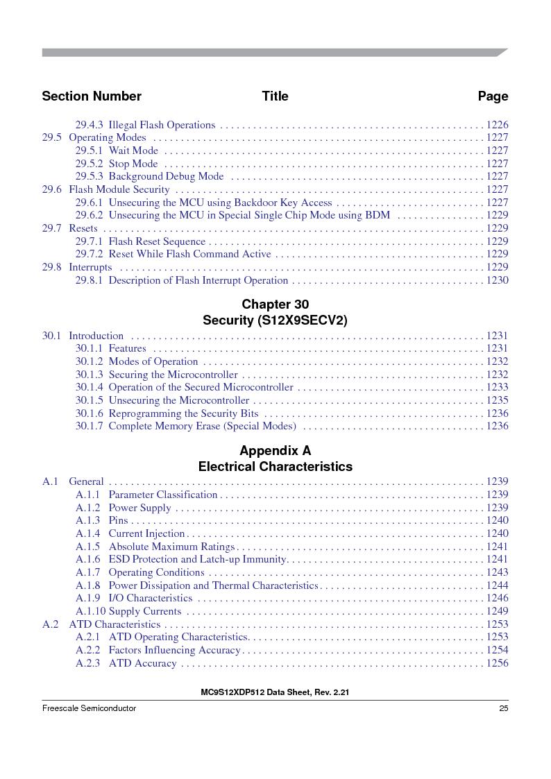 MC9S12XD256MAL ,Freescale Semiconductor厂商,IC MCU 256K FLASH 112-LQFP, MC9S12XD256MAL datasheet预览  第25页