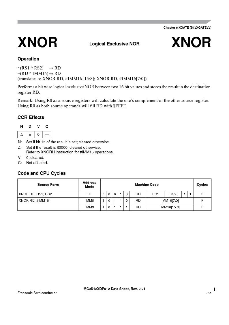 MC9S12XD256MAL ,Freescale Semiconductor厂商,IC MCU 256K FLASH 112-LQFP, MC9S12XD256MAL datasheet预览  第285页