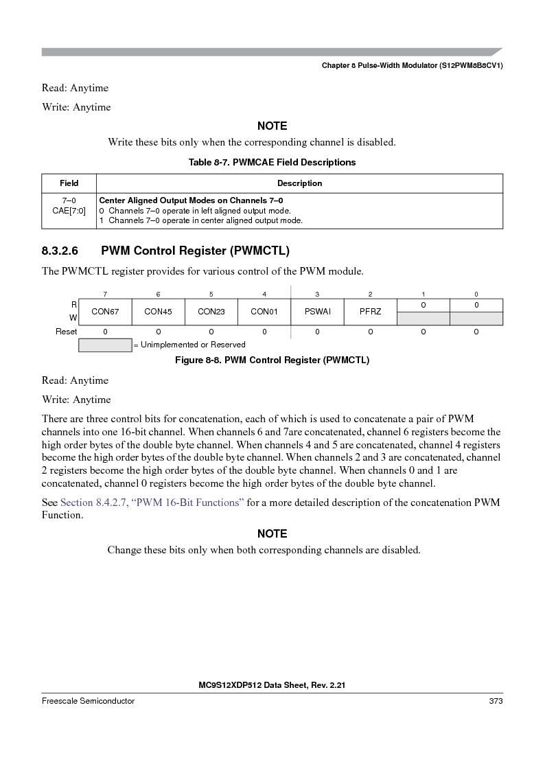 MC9S12XD256MAL ,Freescale Semiconductor厂商,IC MCU 256K FLASH 112-LQFP, MC9S12XD256MAL datasheet预览  第373页