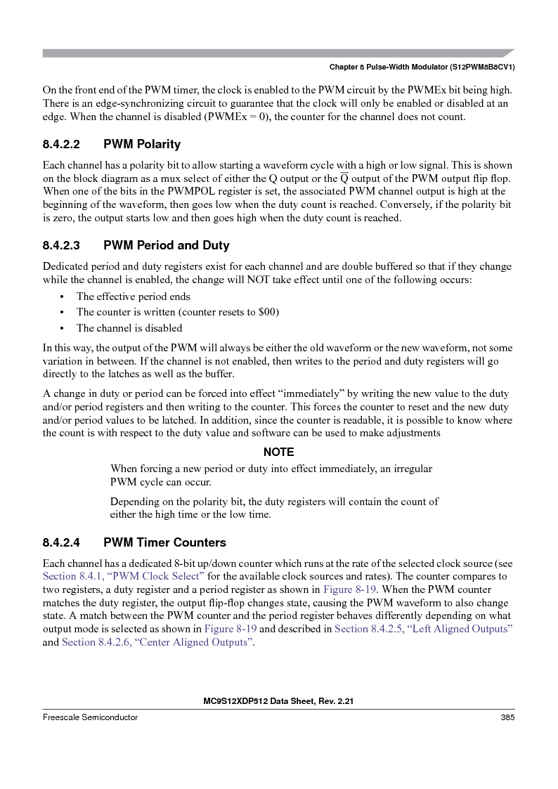 MC9S12XD256MAL ,Freescale Semiconductor厂商,IC MCU 256K FLASH 112-LQFP, MC9S12XD256MAL datasheet预览  第385页