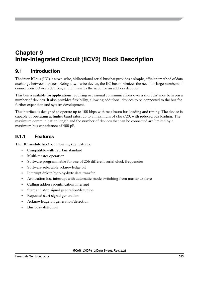 MC9S12XD256MAL ,Freescale Semiconductor厂商,IC MCU 256K FLASH 112-LQFP, MC9S12XD256MAL datasheet预览  第395页