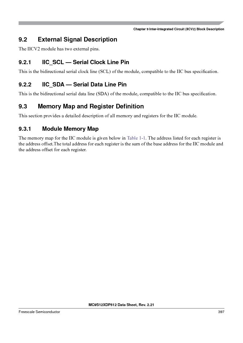 MC9S12XD256MAL ,Freescale Semiconductor厂商,IC MCU 256K FLASH 112-LQFP, MC9S12XD256MAL datasheet预览  第397页