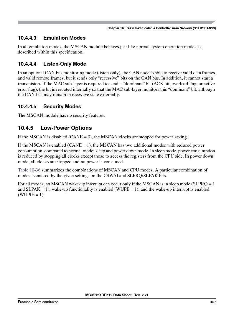 MC9S12XD256MAL ,Freescale Semiconductor厂商,IC MCU 256K FLASH 112-LQFP, MC9S12XD256MAL datasheet预览  第467页