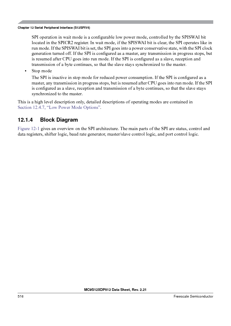MC9S12XD256MAL ,Freescale Semiconductor厂商,IC MCU 256K FLASH 112-LQFP, MC9S12XD256MAL datasheet预览  第516页