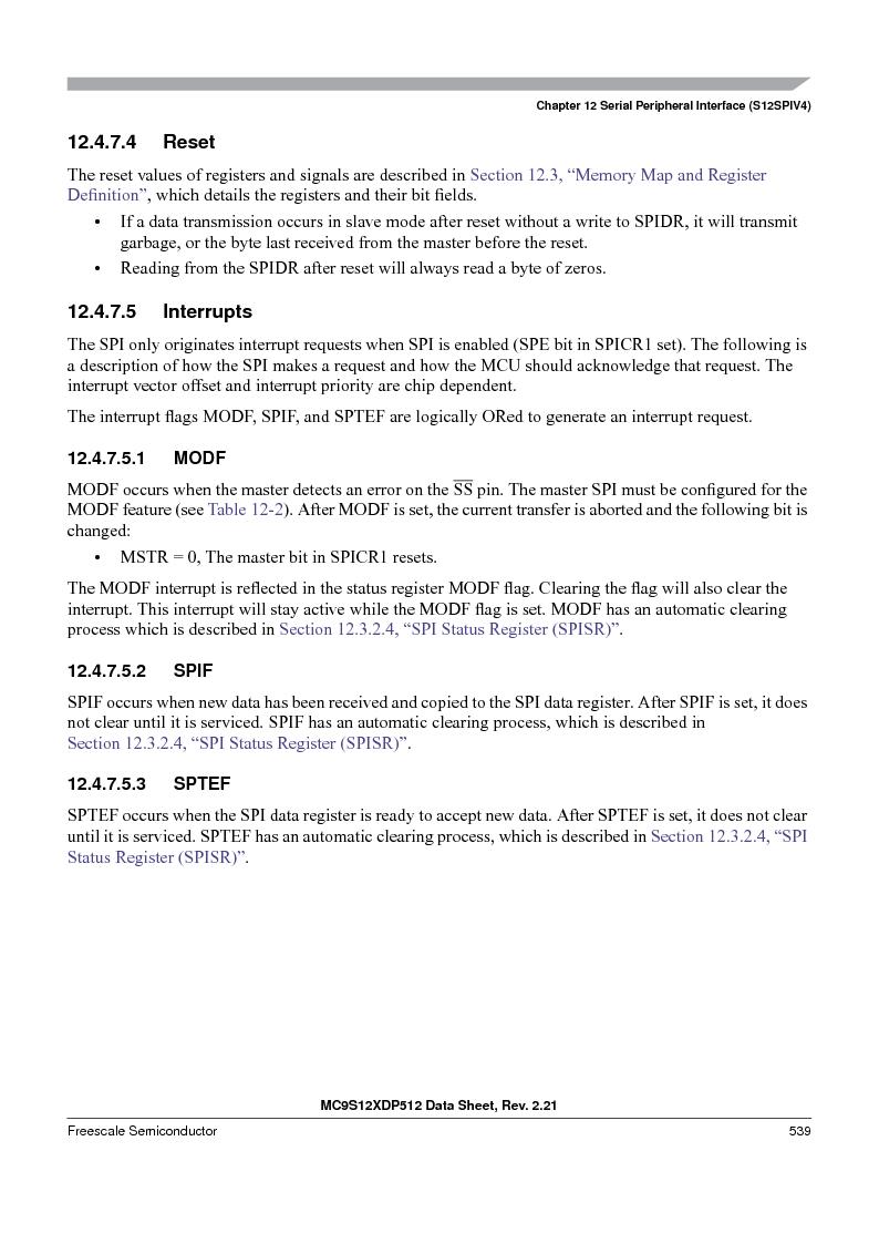 MC9S12XD256MAL ,Freescale Semiconductor厂商,IC MCU 256K FLASH 112-LQFP, MC9S12XD256MAL datasheet预览  第539页