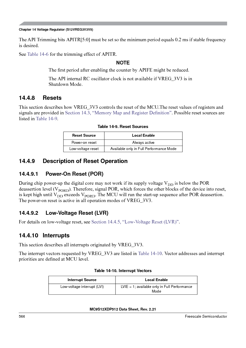 MC9S12XD256MAL ,Freescale Semiconductor厂商,IC MCU 256K FLASH 112-LQFP, MC9S12XD256MAL datasheet预览  第566页