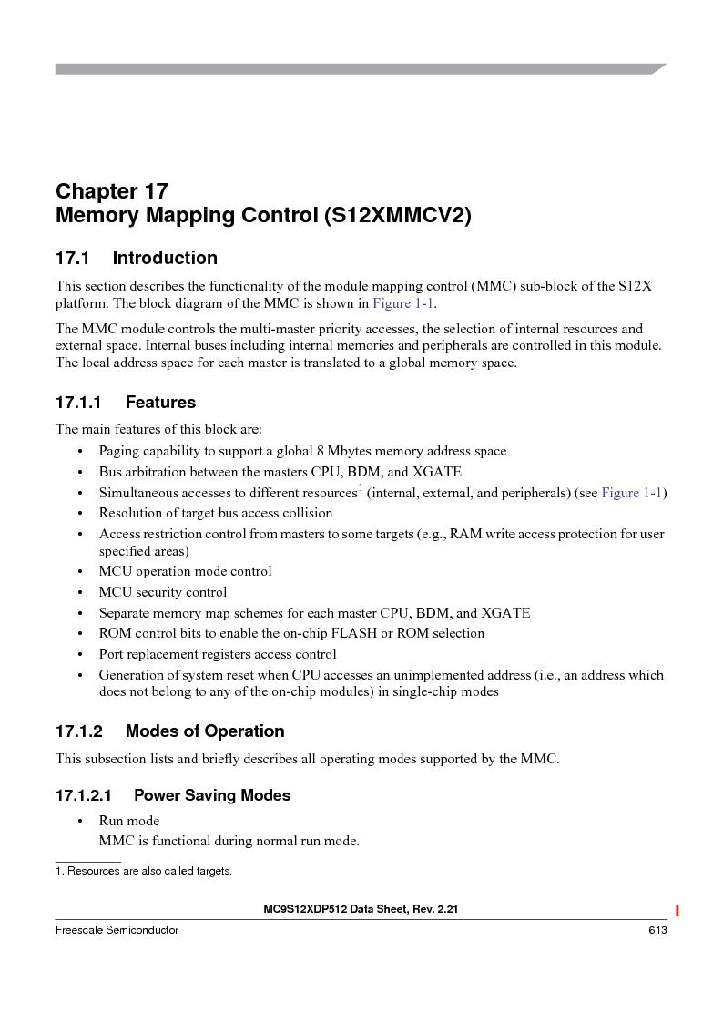 MC9S12XD256MAL ,Freescale Semiconductor厂商,IC MCU 256K FLASH 112-LQFP, MC9S12XD256MAL datasheet预览  第613页