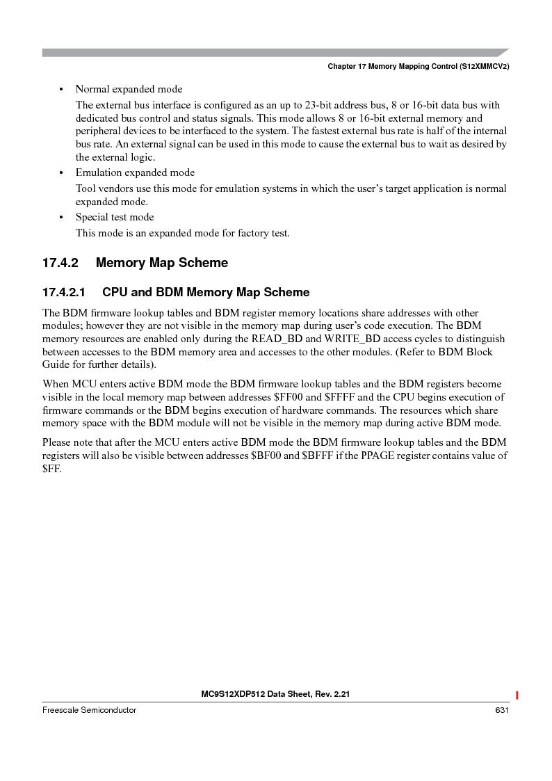 MC9S12XD256MAL ,Freescale Semiconductor厂商,IC MCU 256K FLASH 112-LQFP, MC9S12XD256MAL datasheet预览  第631页