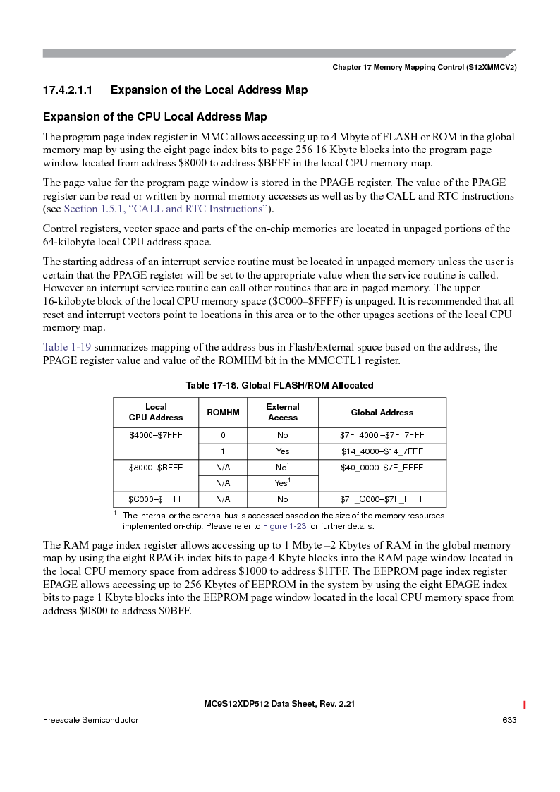MC9S12XD256MAL ,Freescale Semiconductor厂商,IC MCU 256K FLASH 112-LQFP, MC9S12XD256MAL datasheet预览  第633页