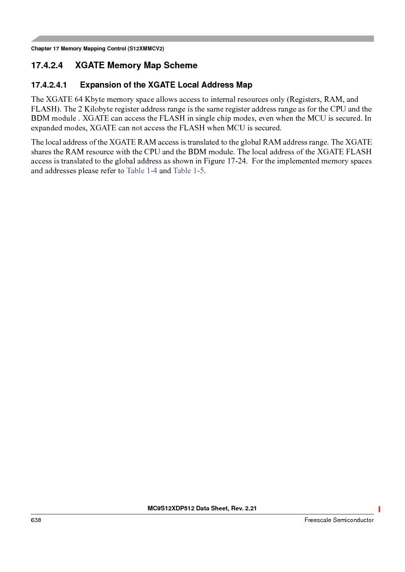 MC9S12XD256MAL ,Freescale Semiconductor厂商,IC MCU 256K FLASH 112-LQFP, MC9S12XD256MAL datasheet预览  第638页