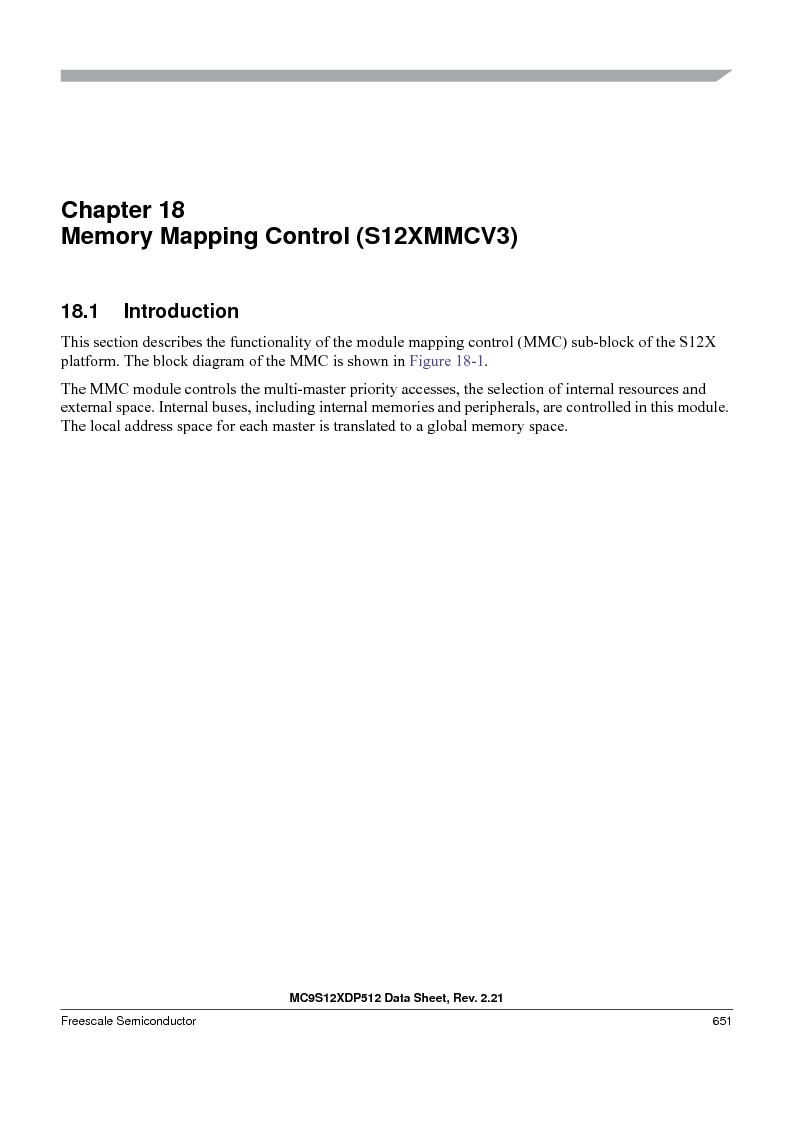 MC9S12XD256MAL ,Freescale Semiconductor厂商,IC MCU 256K FLASH 112-LQFP, MC9S12XD256MAL datasheet预览  第651页