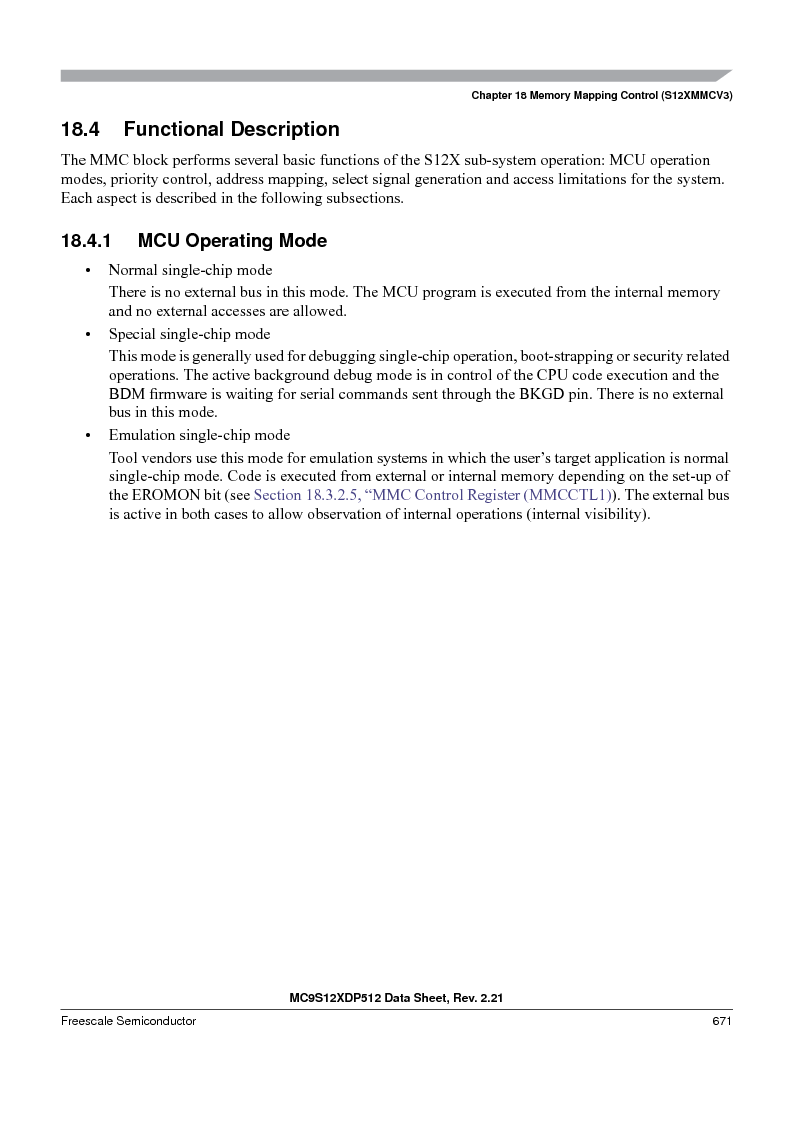 MC9S12XD256MAL ,Freescale Semiconductor厂商,IC MCU 256K FLASH 112-LQFP, MC9S12XD256MAL datasheet预览  第671页