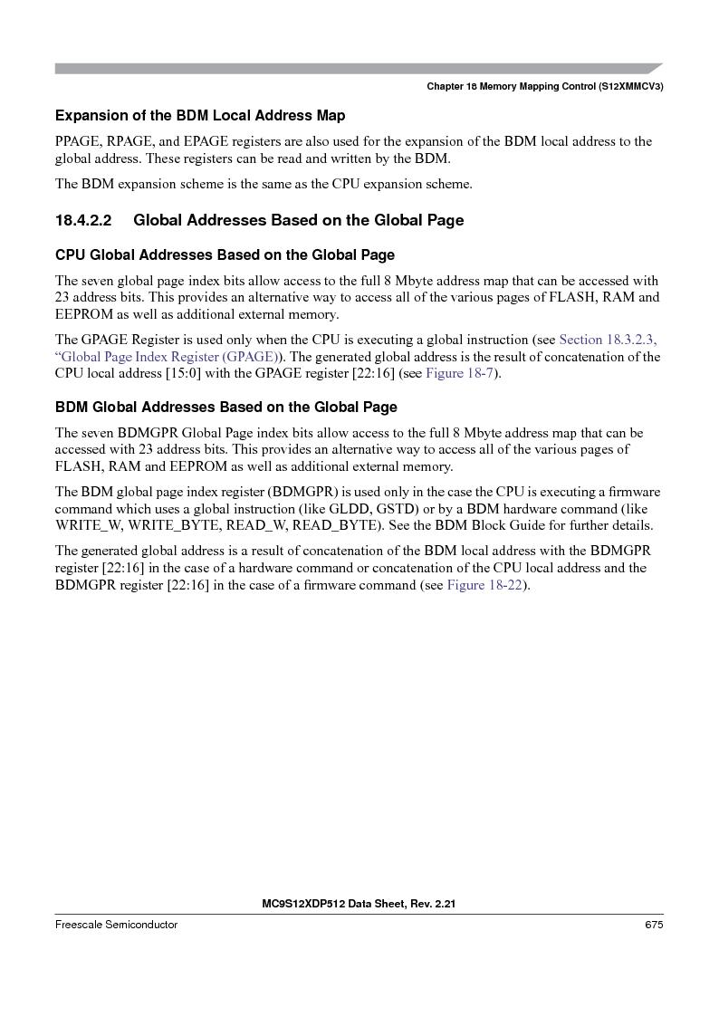 MC9S12XD256MAL ,Freescale Semiconductor厂商,IC MCU 256K FLASH 112-LQFP, MC9S12XD256MAL datasheet预览  第675页