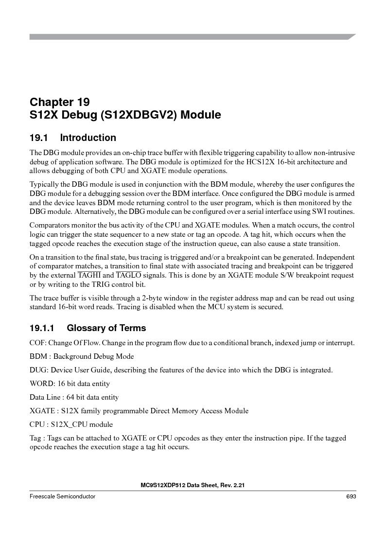 MC9S12XD256MAL ,Freescale Semiconductor厂商,IC MCU 256K FLASH 112-LQFP, MC9S12XD256MAL datasheet预览  第691页