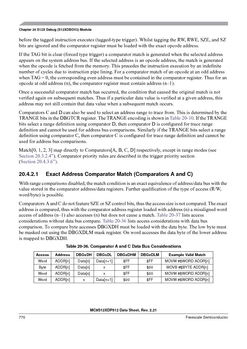 MC9S12XD256MAL ,Freescale Semiconductor厂商,IC MCU 256K FLASH 112-LQFP, MC9S12XD256MAL datasheet预览  第768页