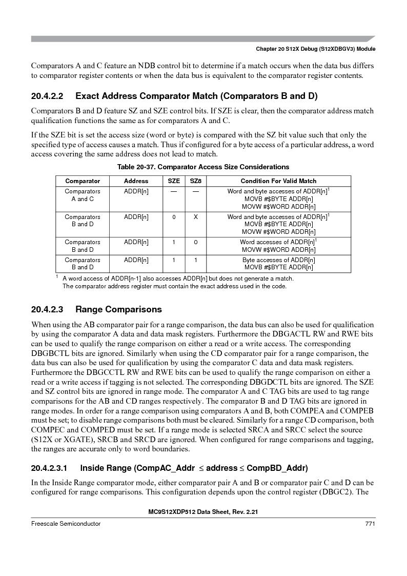 MC9S12XD256MAL ,Freescale Semiconductor厂商,IC MCU 256K FLASH 112-LQFP, MC9S12XD256MAL datasheet预览  第769页