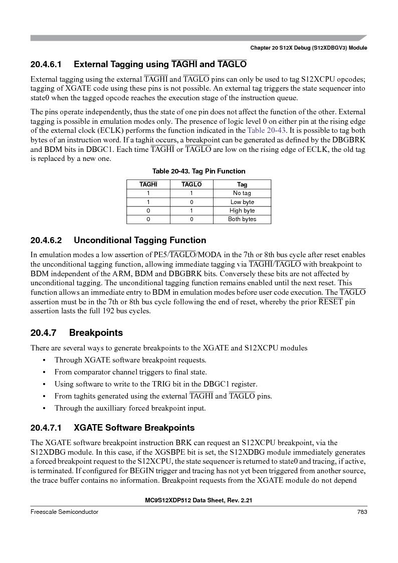 MC9S12XD256MAL ,Freescale Semiconductor厂商,IC MCU 256K FLASH 112-LQFP, MC9S12XD256MAL datasheet预览  第781页