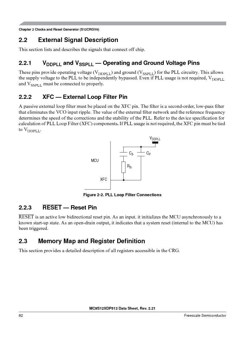 MC9S12XD256MAL ,Freescale Semiconductor厂商,IC MCU 256K FLASH 112-LQFP, MC9S12XD256MAL datasheet预览  第82页