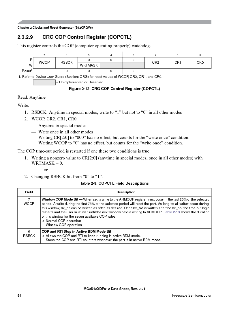 MC9S12XD256MAL ,Freescale Semiconductor厂商,IC MCU 256K FLASH 112-LQFP, MC9S12XD256MAL datasheet预览  第94页