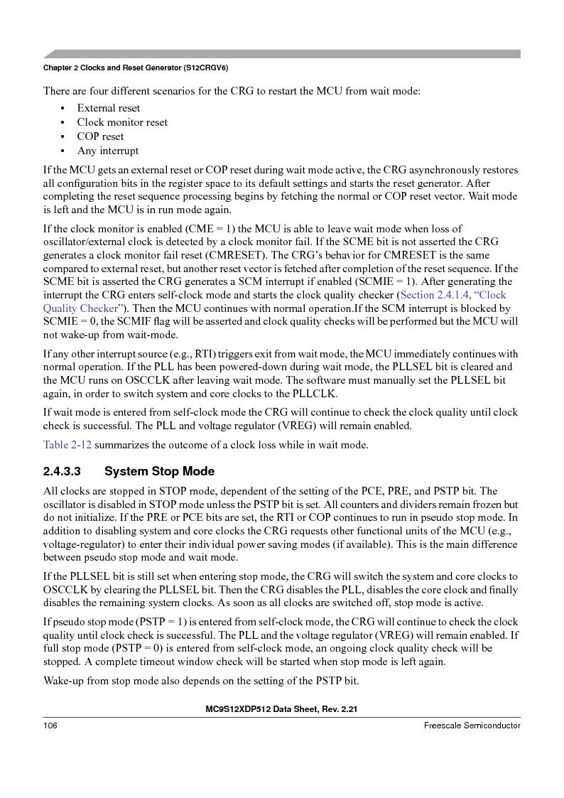 MC9S12XDP512CAL ,Freescale Semiconductor厂商,IC MCU 512K FLASH 112-LQFP, MC9S12XDP512CAL datasheet预览  第106页