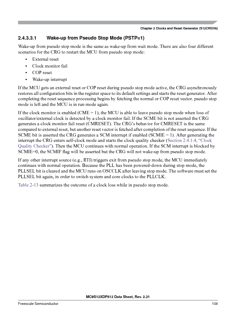 MC9S12XDP512CAL ,Freescale Semiconductor厂商,IC MCU 512K FLASH 112-LQFP, MC9S12XDP512CAL datasheet预览  第109页