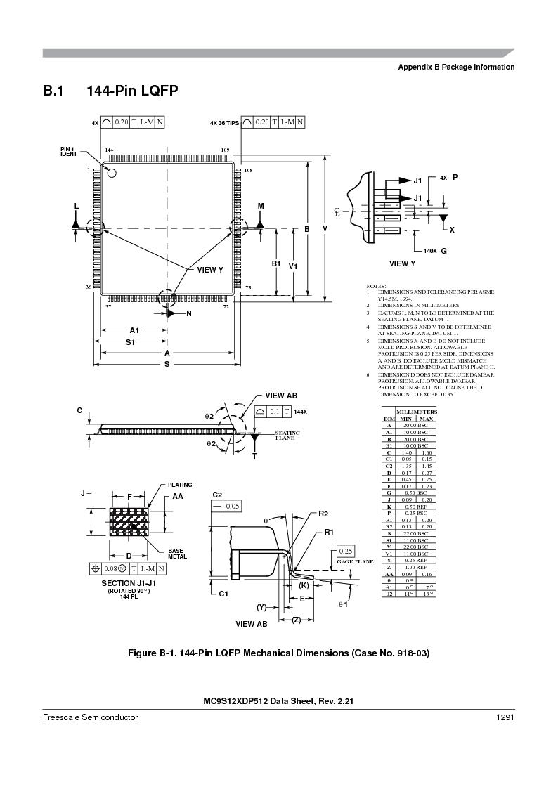 MC9S12XDP512CAL ,Freescale Semiconductor厂商,IC MCU 512K FLASH 112-LQFP, MC9S12XDP512CAL datasheet预览  第1289页