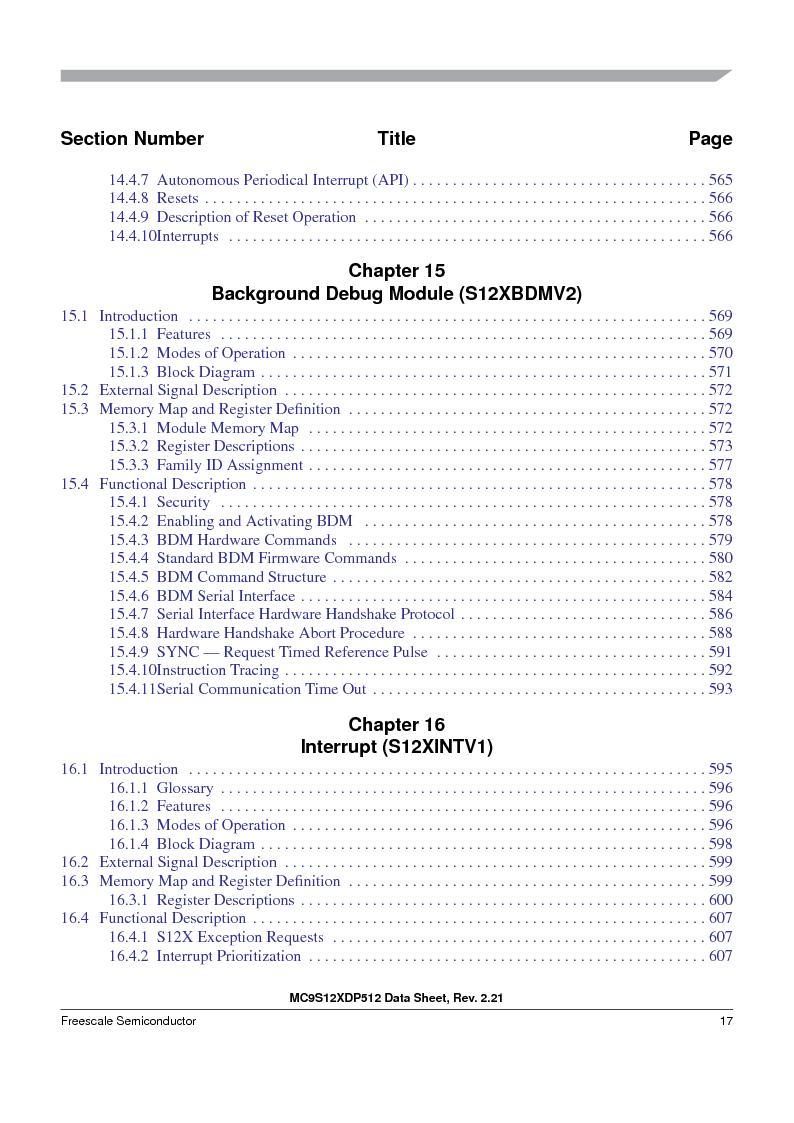 MC9S12XDP512CAL ,Freescale Semiconductor厂商,IC MCU 512K FLASH 112-LQFP, MC9S12XDP512CAL datasheet预览  第17页