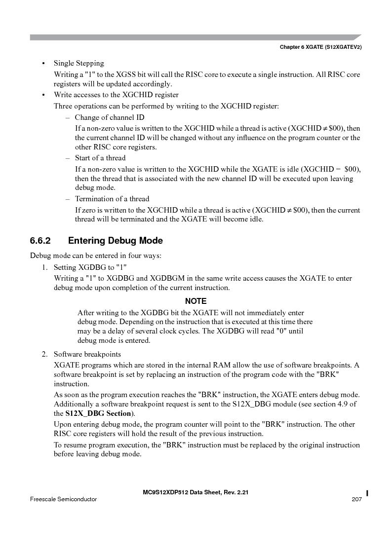 MC9S12XDP512CAL ,Freescale Semiconductor厂商,IC MCU 512K FLASH 112-LQFP, MC9S12XDP512CAL datasheet预览  第207页