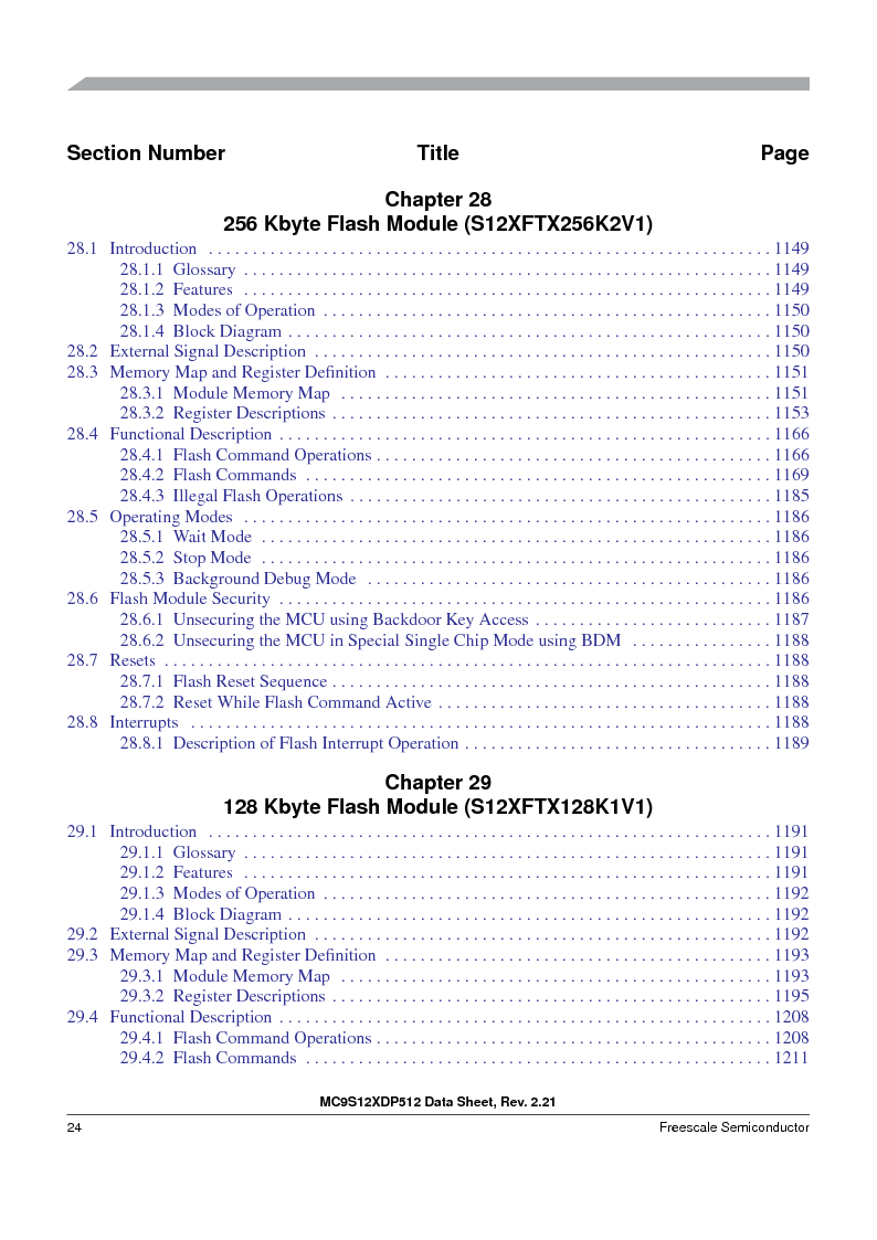 MC9S12XDP512CAL ,Freescale Semiconductor厂商,IC MCU 512K FLASH 112-LQFP, MC9S12XDP512CAL datasheet预览  第24页