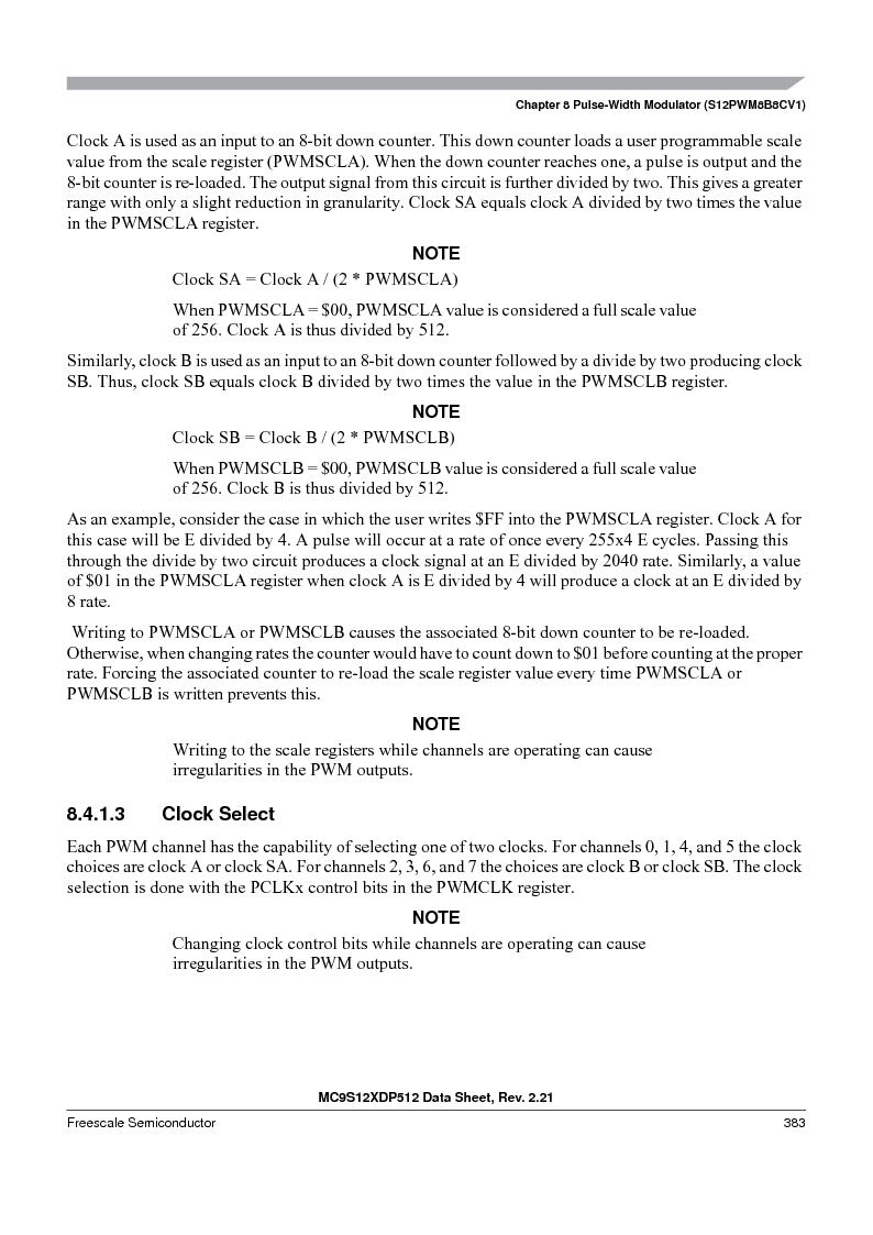 MC9S12XDP512CAL ,Freescale Semiconductor厂商,IC MCU 512K FLASH 112-LQFP, MC9S12XDP512CAL datasheet预览  第383页