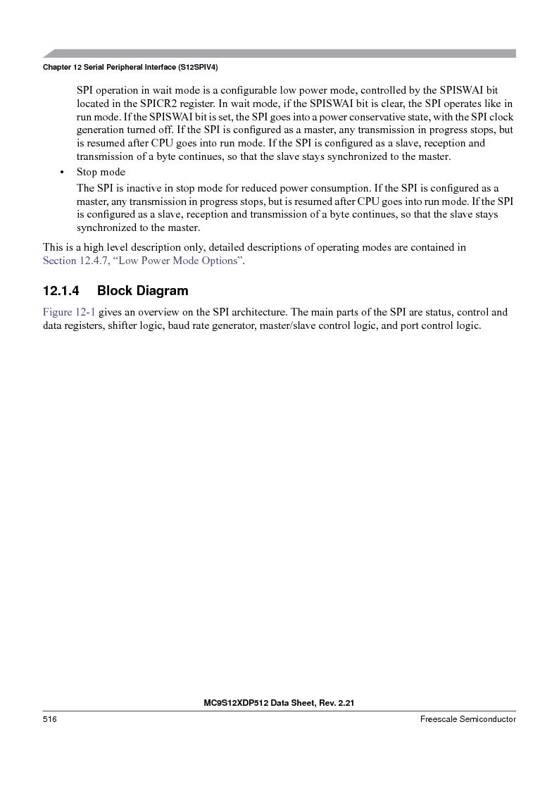 MC9S12XDP512CAL ,Freescale Semiconductor厂商,IC MCU 512K FLASH 112-LQFP, MC9S12XDP512CAL datasheet预览  第516页